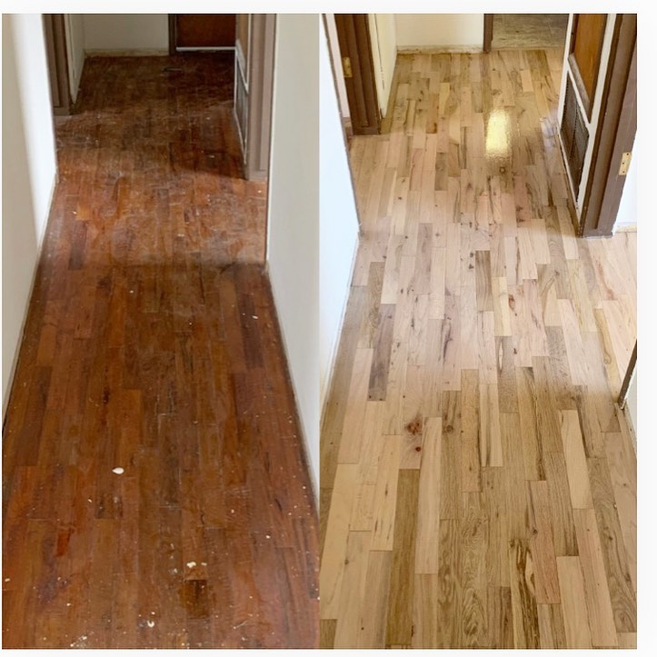 before and after floor restoration