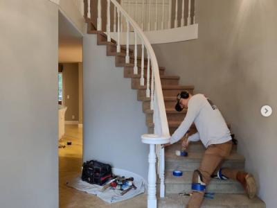 staircase hardwood installation