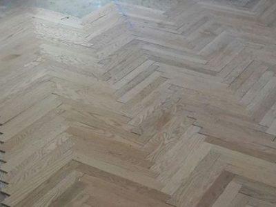 herring bone hardwood floor installation