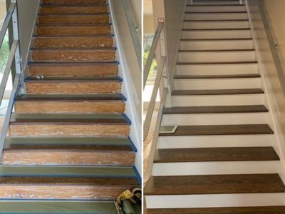 stairs before and after | West Coast Floor Company, Vallejo, CA 94590